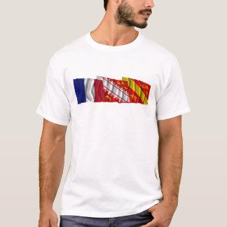 Haut-Rhin, Alsace & France flags T-Shirt