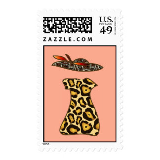Haute couture fashion postage stamps