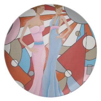 Haute Couture Melamine Plate