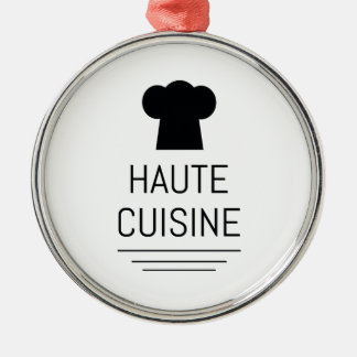 Haute Cuisine French Chef Cooking School Metal Ornament