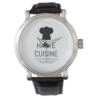 Haute Cuisine French Chef Cooking School Wrist Watch