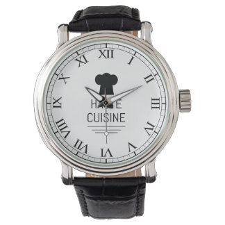 Haute Cuisine French Chef Cooking School Wristwatch