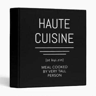 Haute Cuisine Funny French Chef Binder