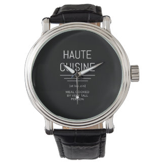 Haute Cuisine Funny French Chef Wristwatch
