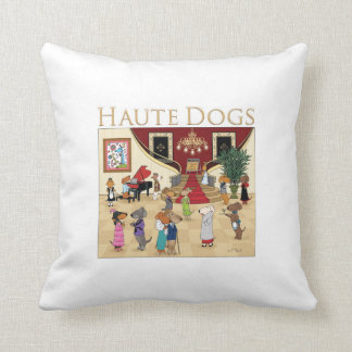 Haute Dogs Throw Pillow