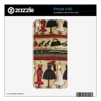 Haute Fashion iPhone 4S Decal