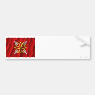 Haute-Garonne que agita la bandera Pegatina Para Auto