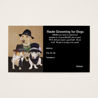 Haute Grooming for Dogs Business Card
