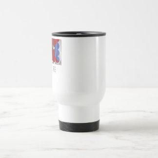 Haute-Loire waving flag with name Travel Mug