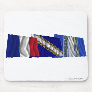 Haute-Marne, Champagne-Ardenne & France flags Mouse Pad