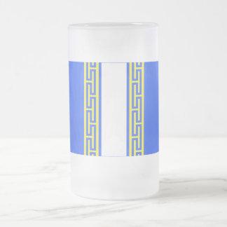 Haute-Marne flag Frosted Glass Beer Mug