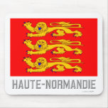 Haute-Normandie flag with name Mouse Pad