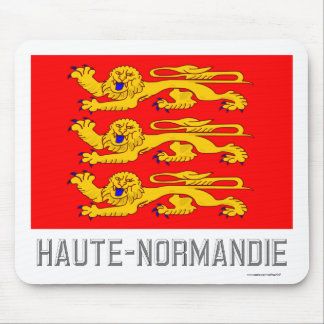 Haute-Normandie flag with name Mouse Pads