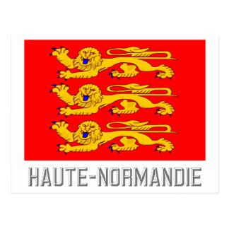 Haute-Normandie flag with name Postcard