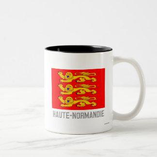 Haute-Normandie flag with name Two-Tone Coffee Mug