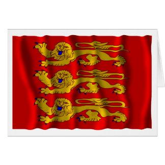 Haute-Normandie waving flag Card