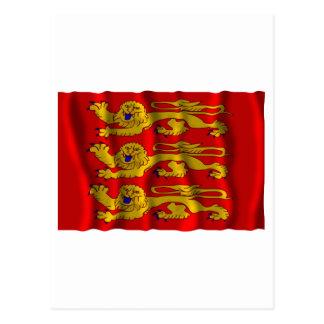 Haute-Normandie waving flag Postcard