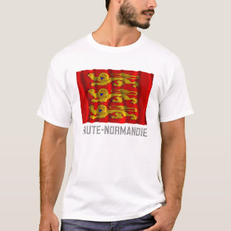 Haute-Normandie waving flag with name T-Shirt