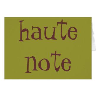 haute note card