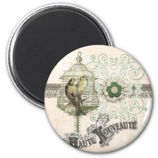 Haute Nouveau en Paris 2 Inch Round Magnet