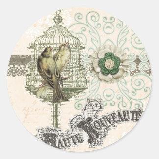 Haute Nouveau en Paris Round Stickers