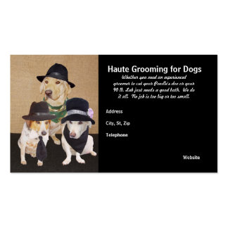 Haute que prepara para los perros tarjetas de visita