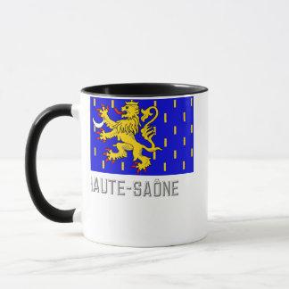 Haute-Saône flag with name Mug