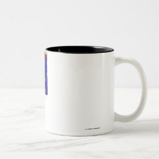 Haute-Saône waving flag Two-Tone Coffee Mug
