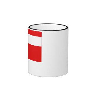 Haute-Savoie flag Ringer Coffee Mug