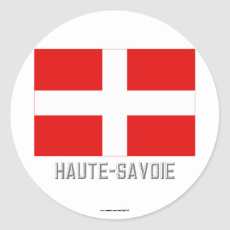 Haute-Savoie flag with name Sticker