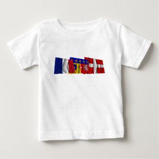 Haute-Savoie, Rhône-Alpes & France flags Baby T-Shirt