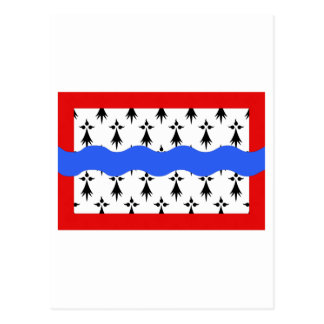 Haute-Vienne flag Postcard