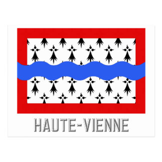 Haute-Vienne flag with name Postcard