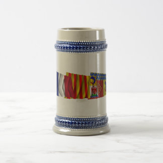 Hautes-Alpes, PACA & France flags Beer Stein