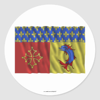 Hautes-Alpes waving flag Stickers