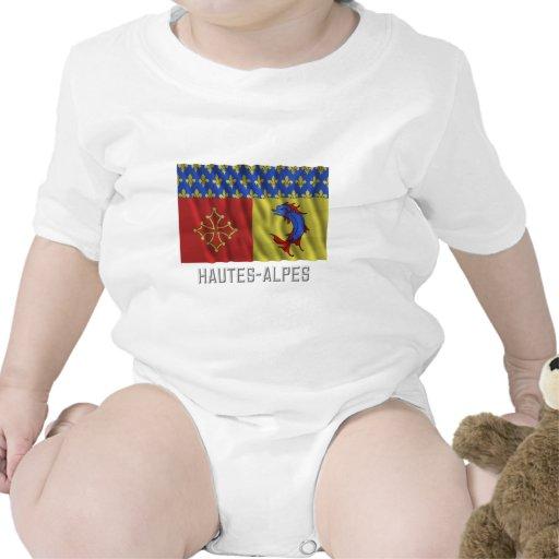 Hautes-Alpes waving flag with name Tshirt