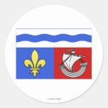Hauts-de-Seine flag Round Stickers