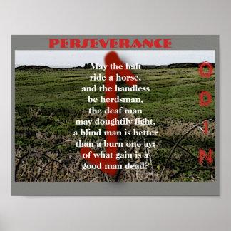 Havamal Perseverance Poster
