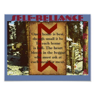 Havamal Self-Reliance Poster