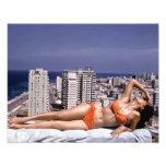 Havana 1950's Beautiful Cuban Girl Bikini Photo Print