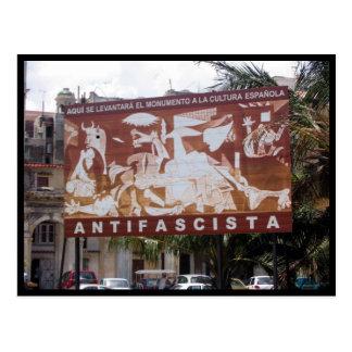 havana antifascista postcard