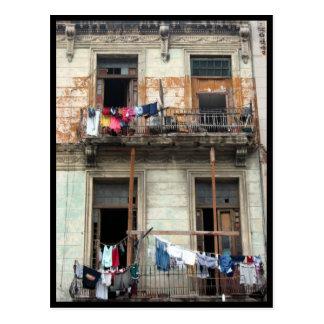 havana balconies postcard