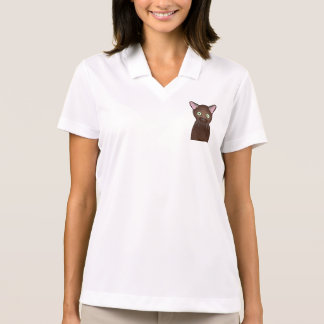 Havana Brown Cat Personalized Polo T-shirt