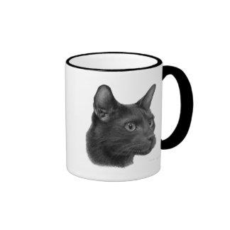 Havana Brown Cat Ringer Coffee Mug
