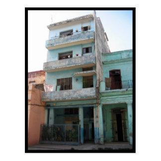 havana building green postcard