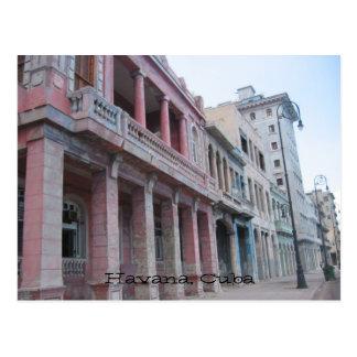 havana buildings postcard