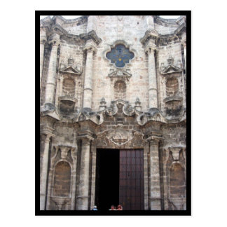 havana cathedral postcard