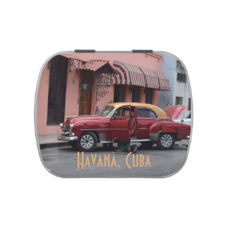 Havana Cuba American Car Jelly Belly Candy Tins