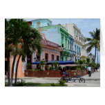 Havana Cuba Architecture near Malecon Card
