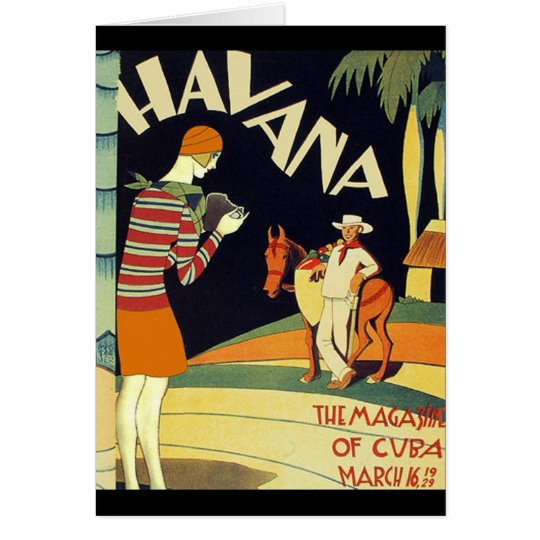Havana Cuba Art Deco Cover Vintage Art Card